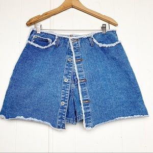 Vintage LA Blues Raw Edge Denim Skort